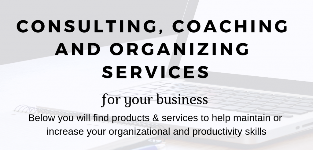 Consulting Coaching and Organizing Services