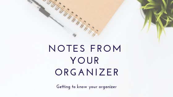 Notes from your Organizer